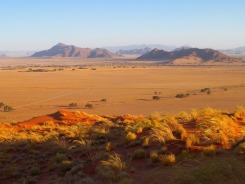 エリム砂丘で夕陽を待つ