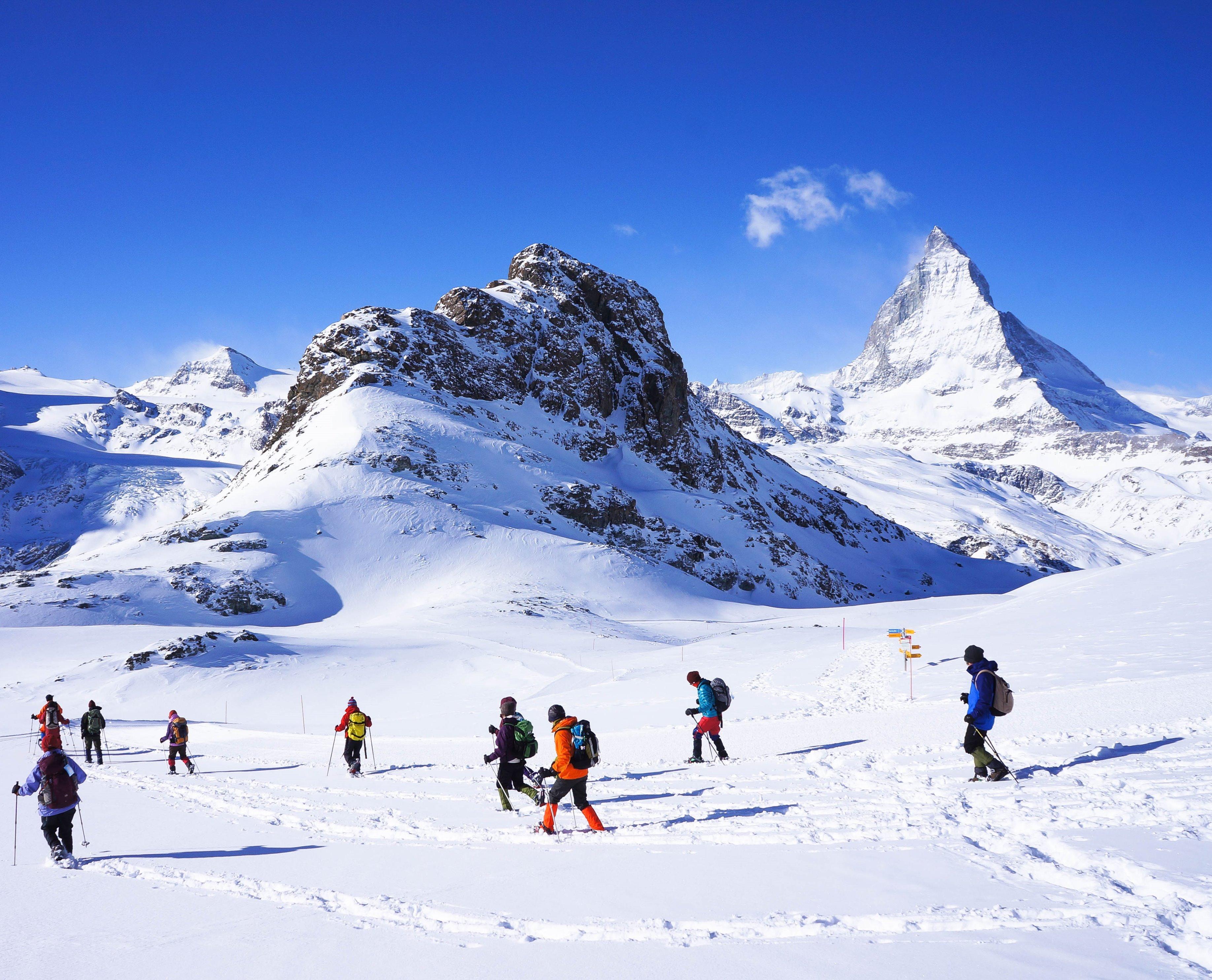 冬のスイス・アルプスを歩く!