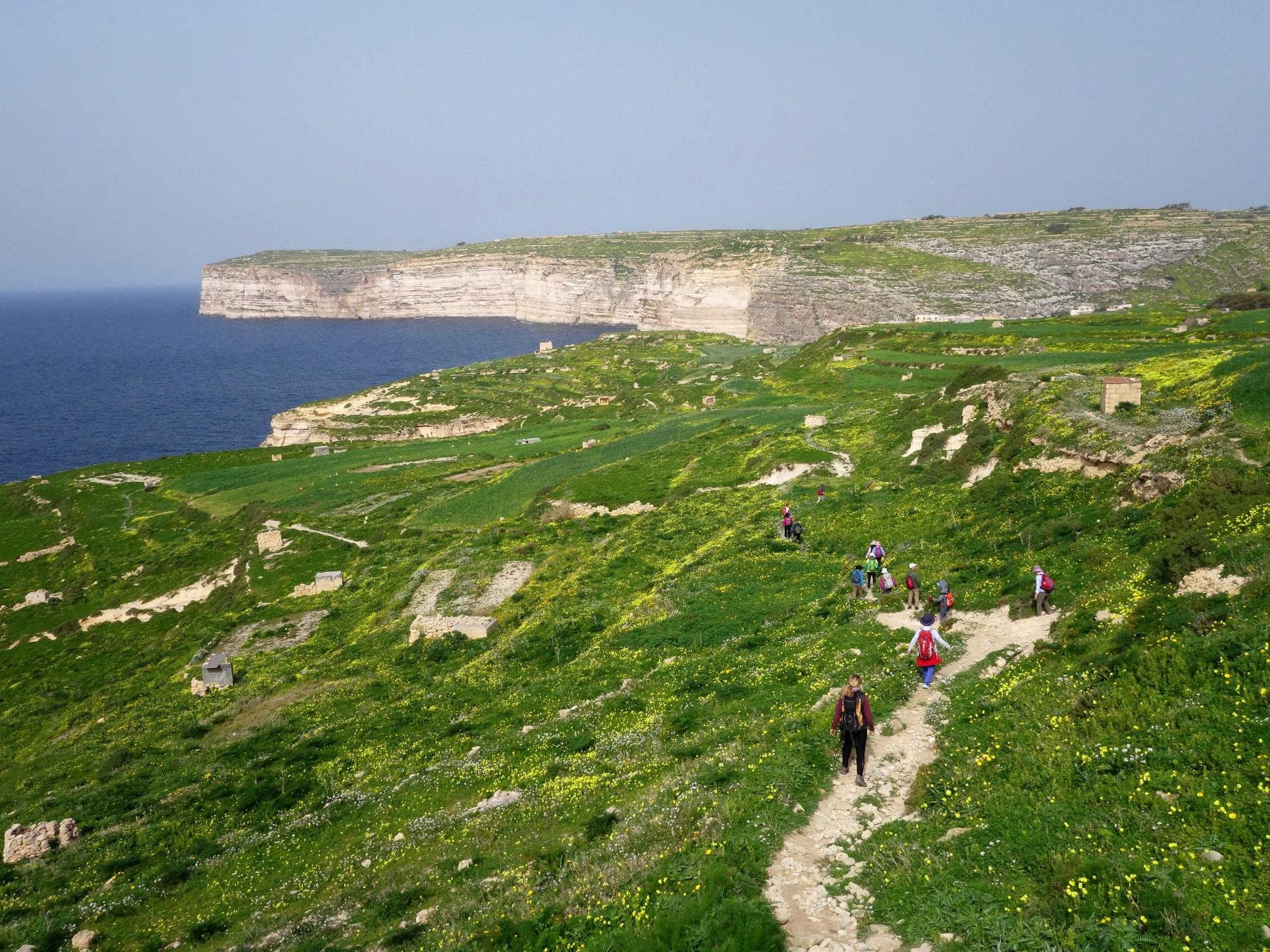2月21日出発「地中海の中央に浮かぶ島マルタ諸島のハイキング 8日間」