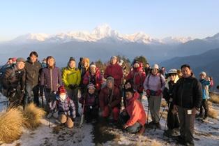 3月20日出発「アンナプルナ・ダウラギリしゃくなげトレッキング 絶景の丘の上のホテル 9日間」