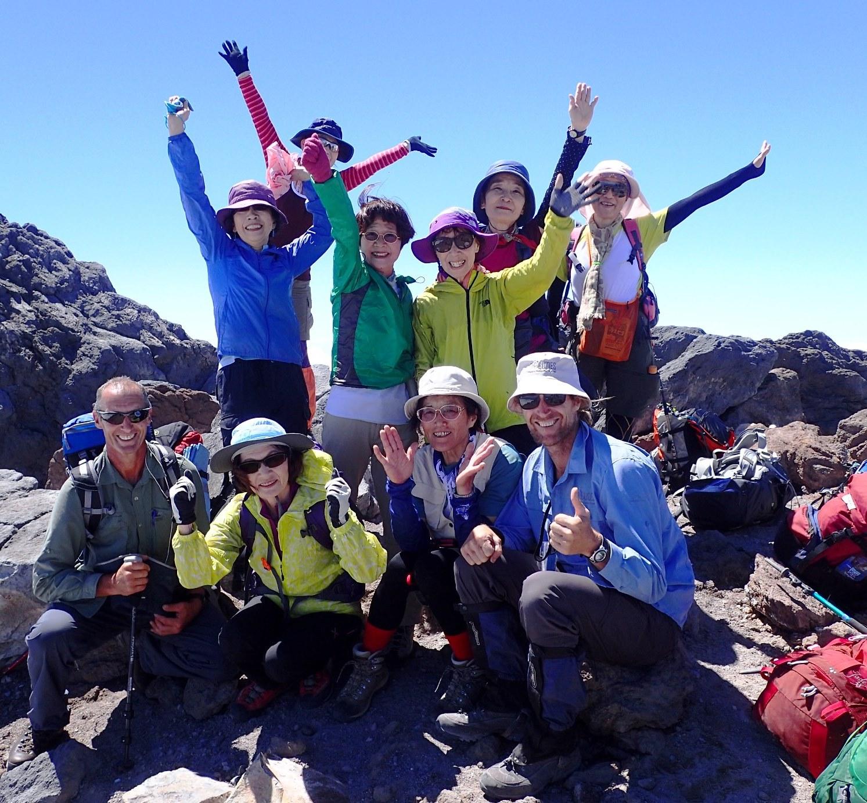 2月16日出発「NZ北島の名峰ルアペフ山、タラナキ山登頂とトンガリロ・クロッシング 9日間」