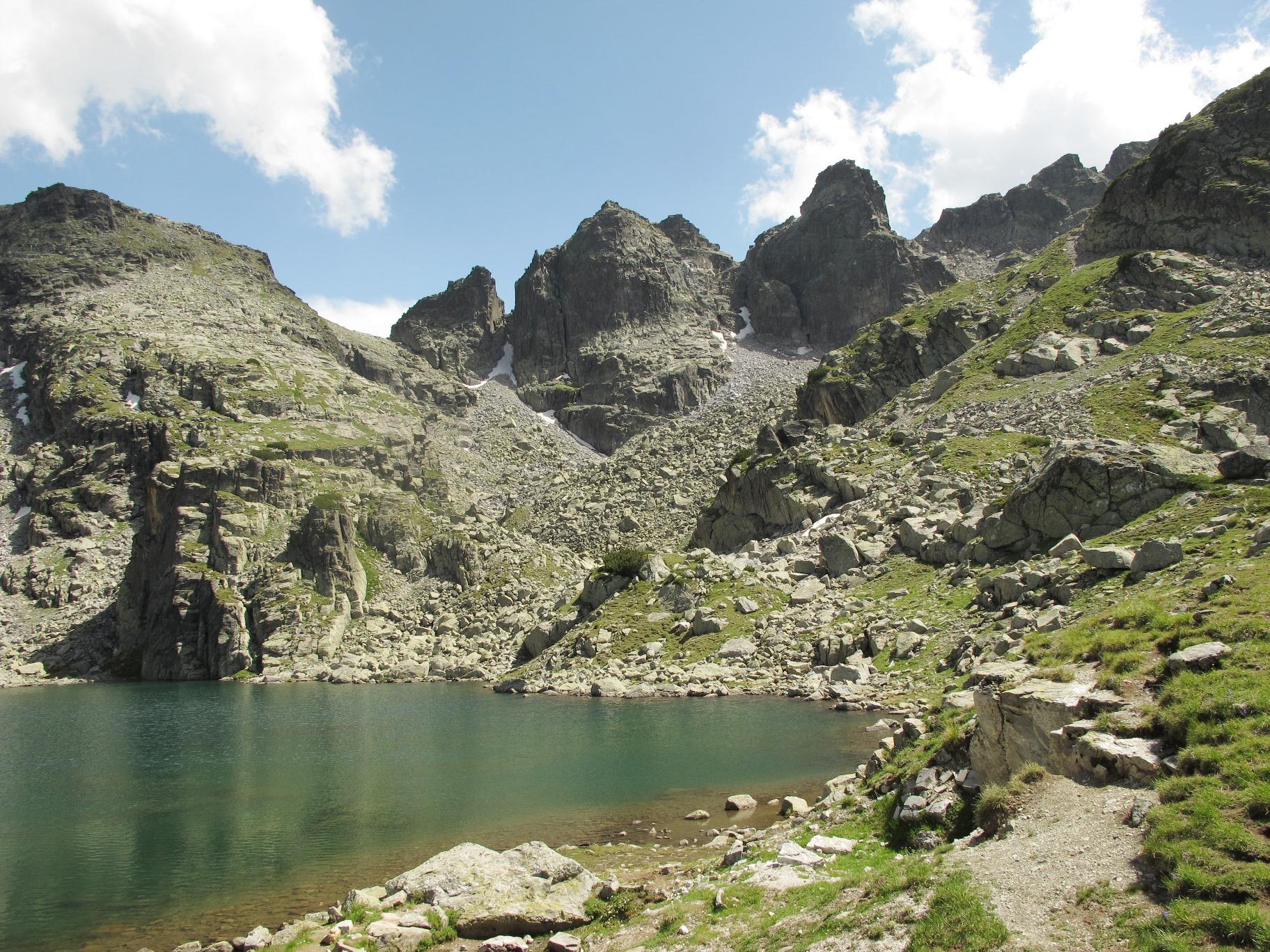 荒々しい岩稜が続くマリオヴィッツァの核心