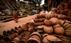 陶芸の町でもある世界遺産の町バクタプル