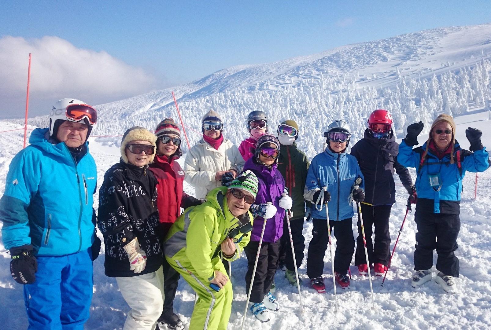 2月1日出発 岩崎元郎さんと滑ろう、樹氷を見ながら『レッツ・スキー!』 山形蔵王温泉スキー場 3日間