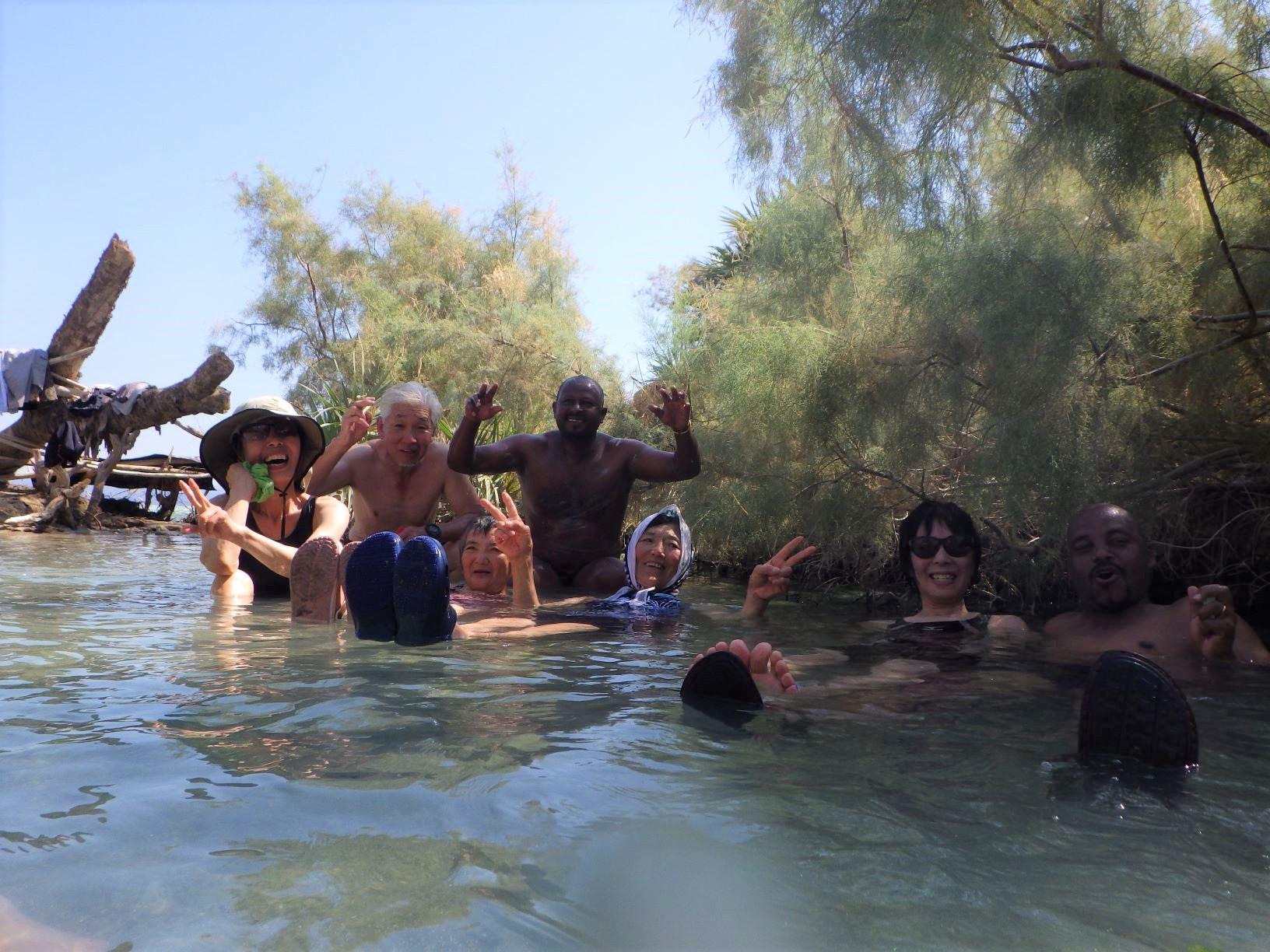 旅の締めはアフデラ湖の野天風呂