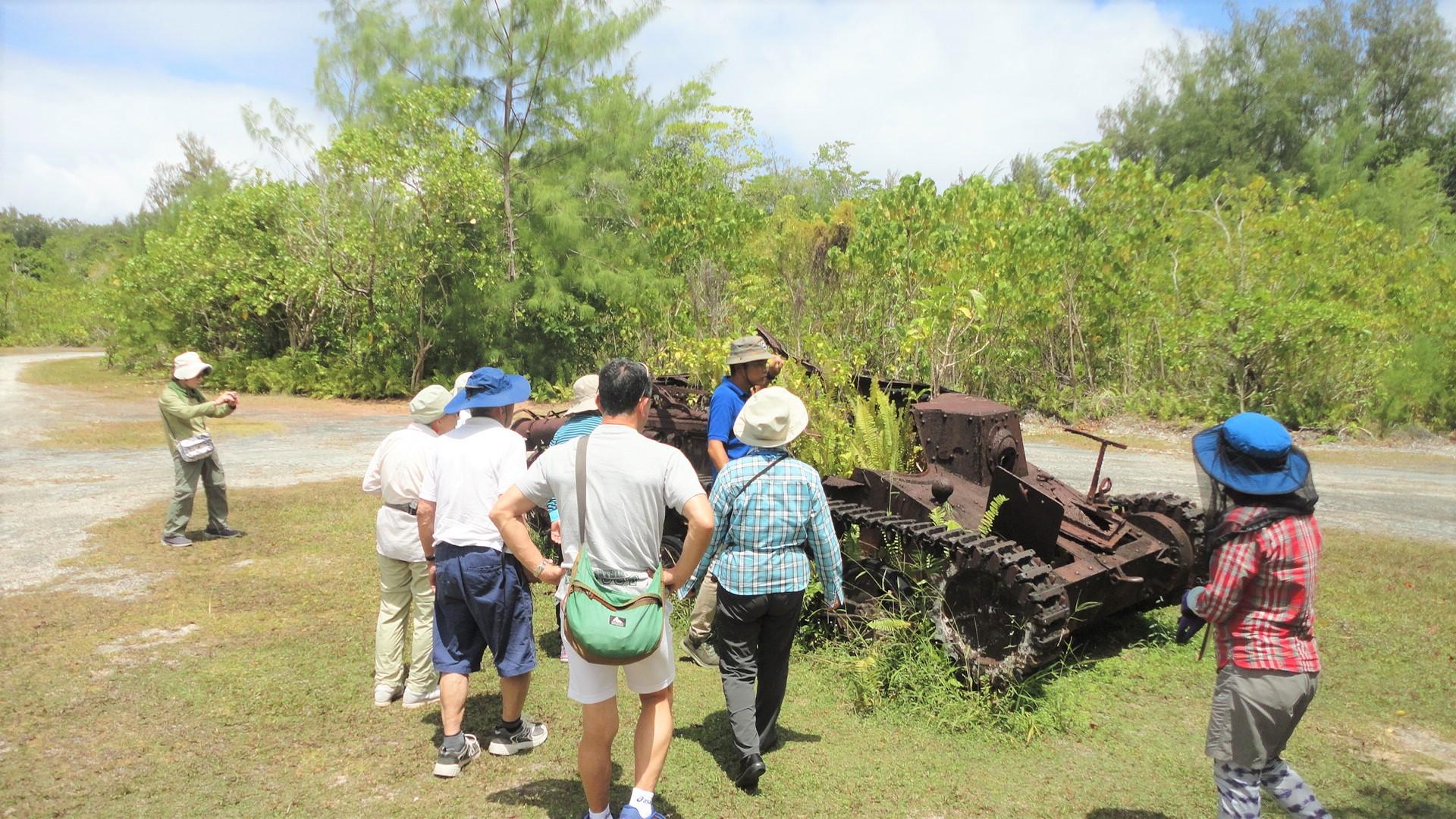 ペリュリュー島に残る日本軍の戦車