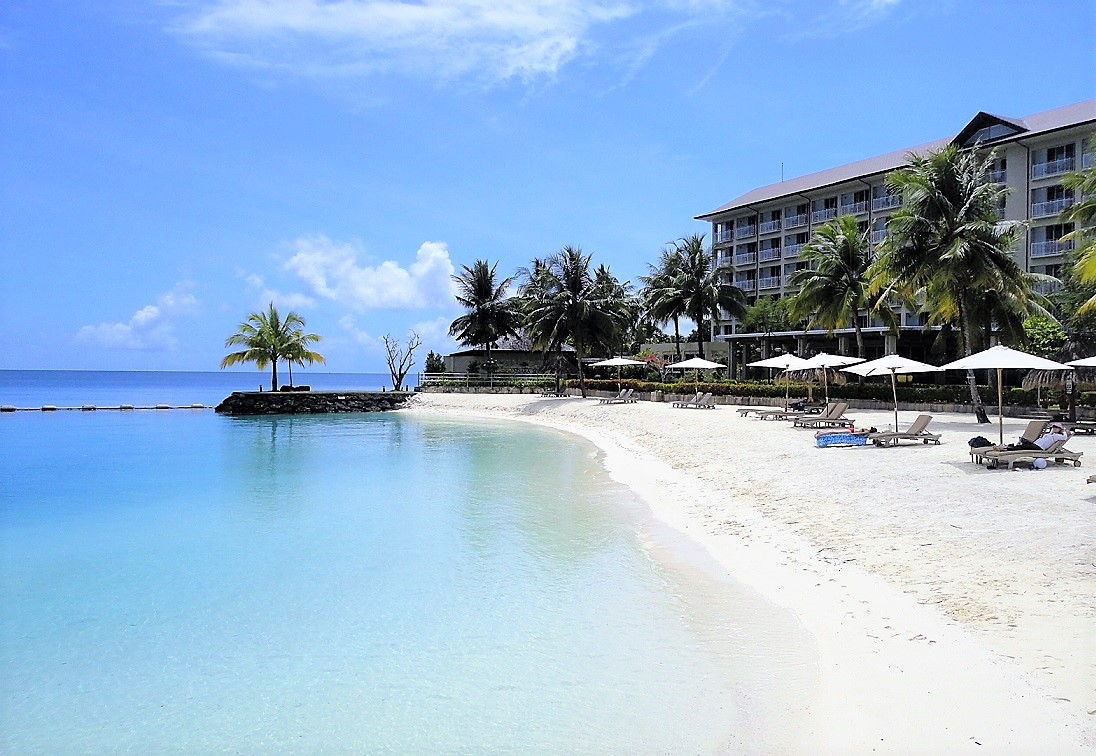南国パラオでの滞在は快適なリゾートホテル