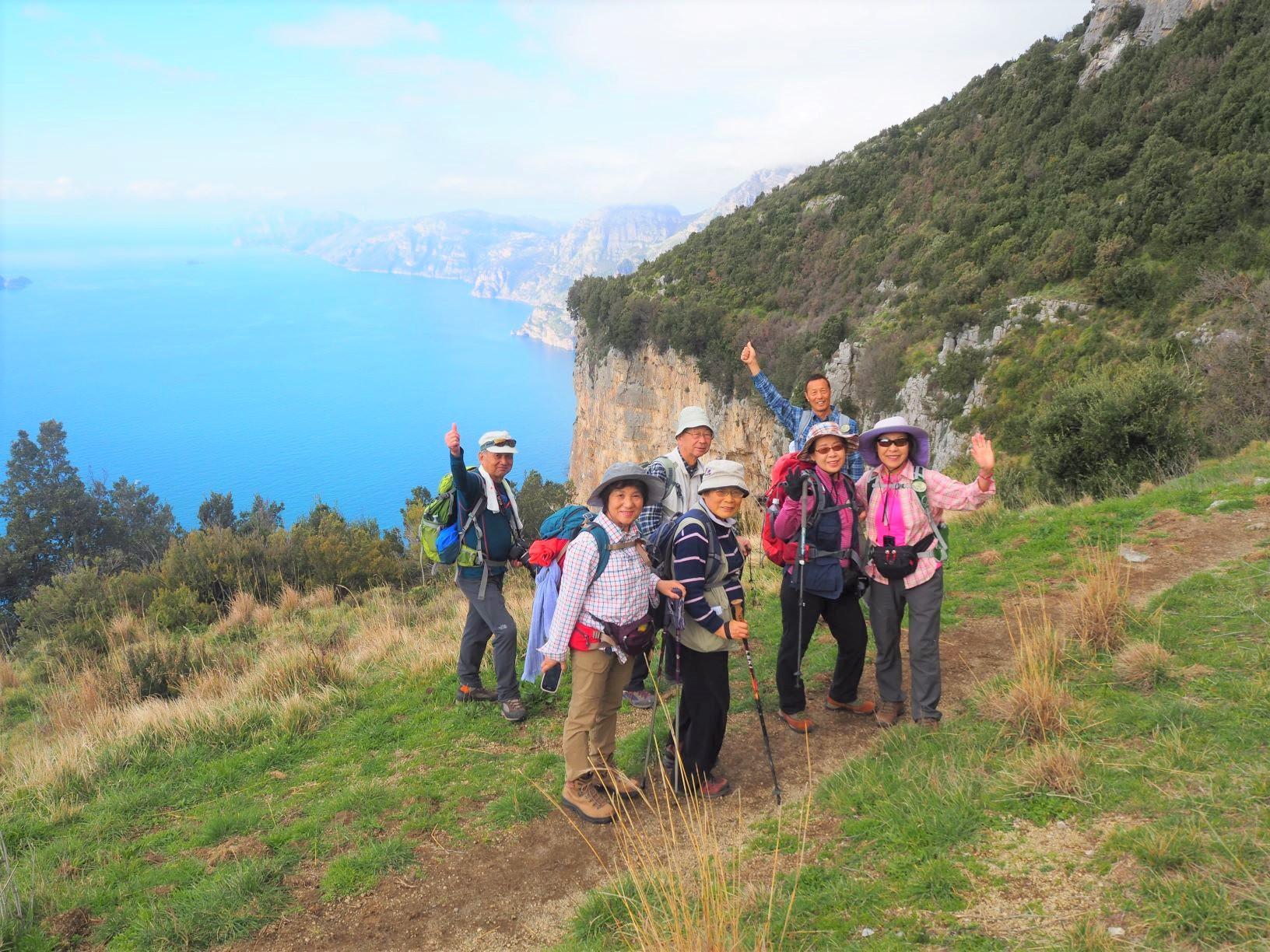 アマルフィ「神々の道」ハイキング