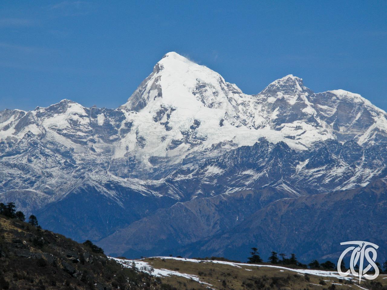 チュレ峠から望むブータン・ヒマラヤ