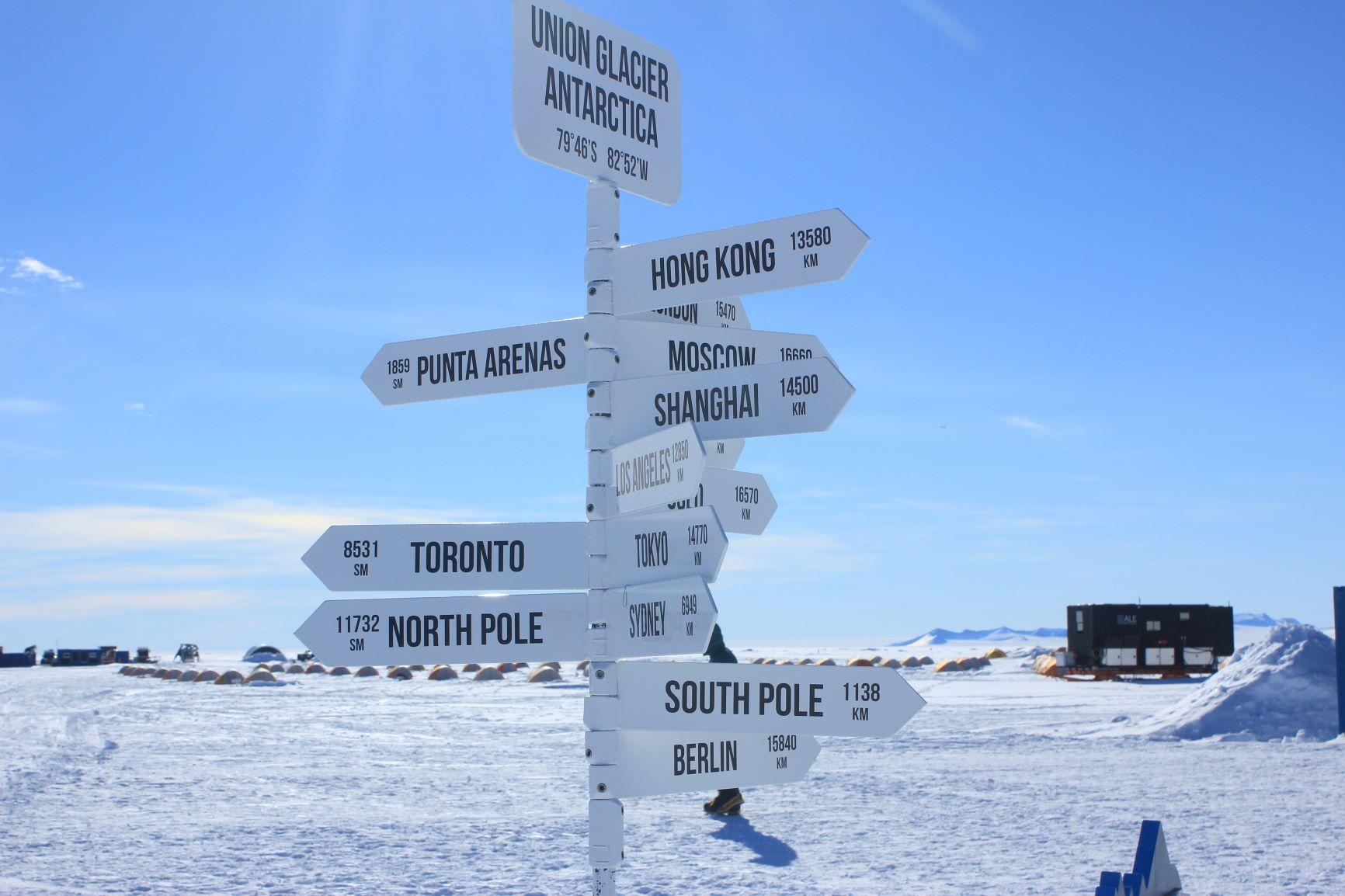 ユニオングレーシャキャンプは南緯79度に