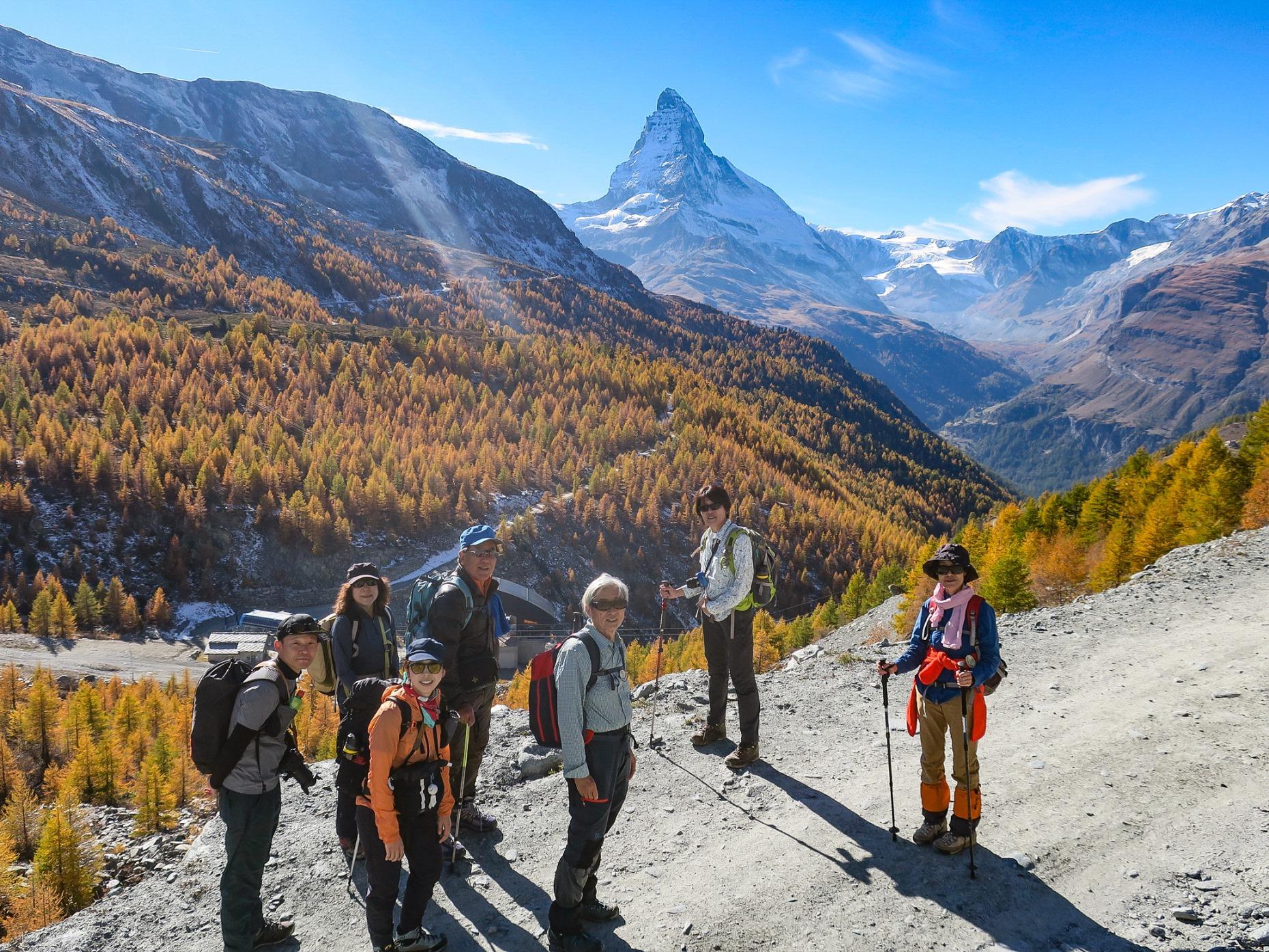 憧れのスイス・マッターホルン展望ハイキング 7日間