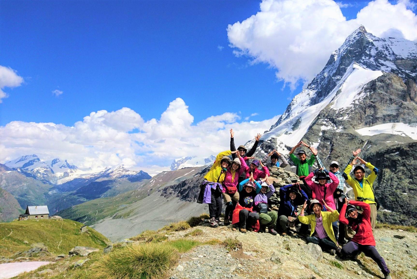 【大募集中】9月5日出発 スイス絶景の3つの山小屋トレッキング 9日間