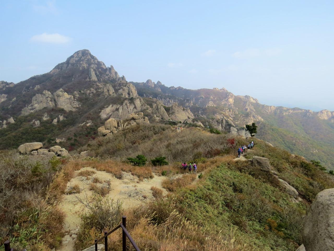 月出山(ウォルチュルサン)登頂と辺山半島(ピョンサンバンド)ハイキング 4日間