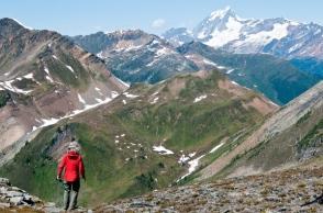 セルカーク山脈の主峰Mt.サー・サンフォード