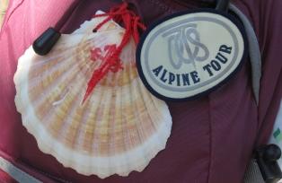 巡礼者のシンボル、ホタテ貝の飾り