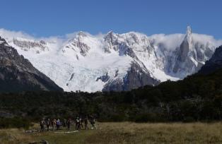 セロ・トーレ展望ハイキング、右端の鋭鋒がセロ・トーレ(7日目)