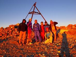 中米最高峰タフムルコ山頂