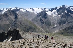 エッツタール山群の展望を望む(5日目)