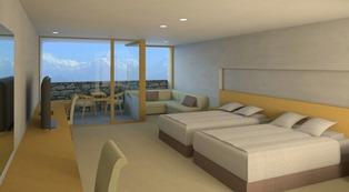 お部屋はすべてヒマラヤ・ビュー。ホテルの写真は全て完成予想図です。(提供:HAV)