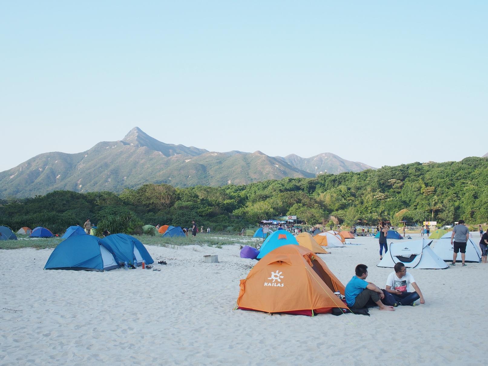 開放的なビーチキャンプも楽しみのひとつ