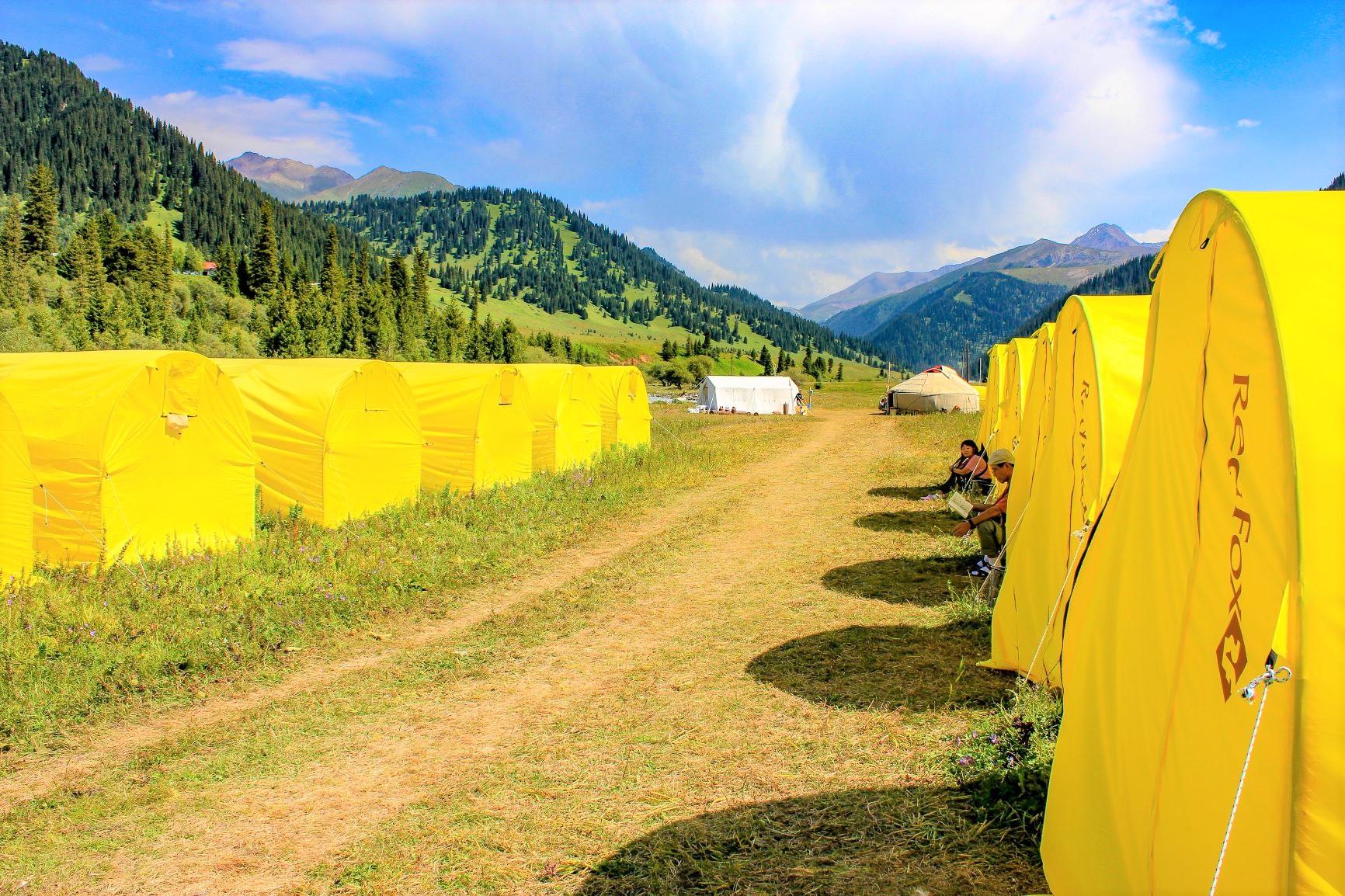 緑豊かで快適なカルカラのキャンプ地