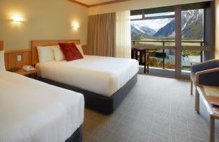 ハーミテージホテルはマウントクックの見える部屋に宿泊