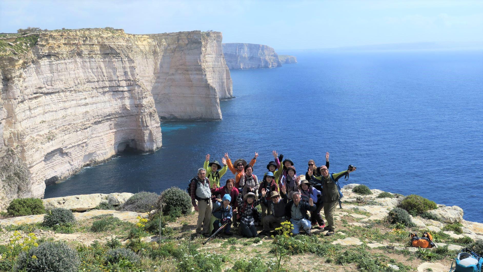 美しい海岸線が続くマルタのハイキング(6日目)
