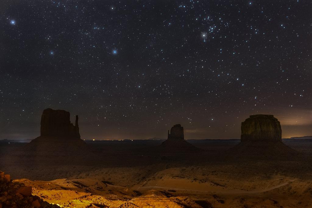ビューホテルから見る満点の星空