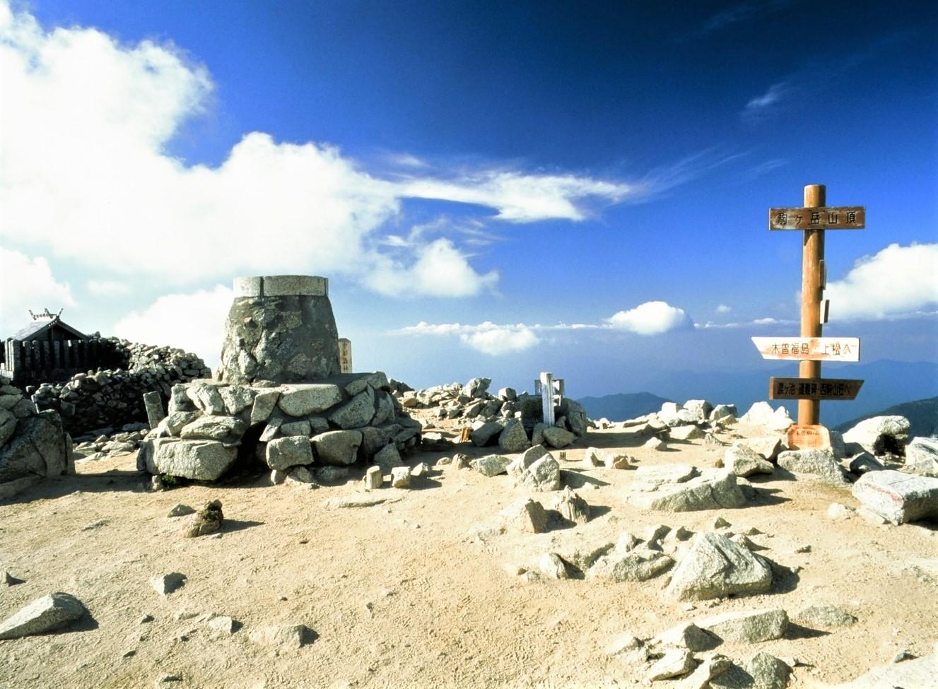 木曽駒ケ岳山頂へ