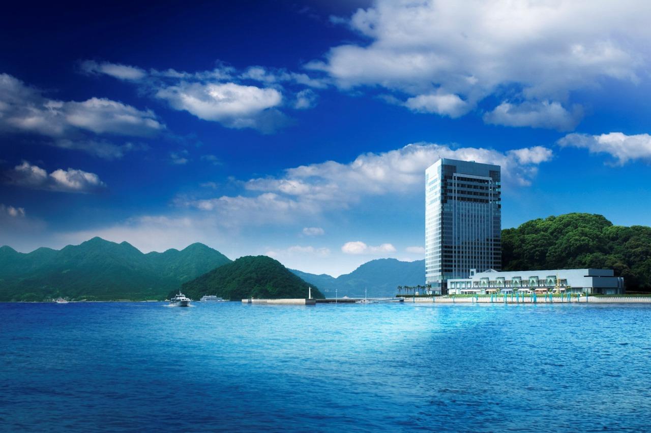 宇品島に建つグランドプリンスホテル広島