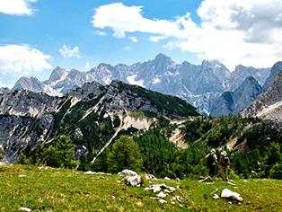 ユリアン・アルプスの山並み(スロヴェニア)