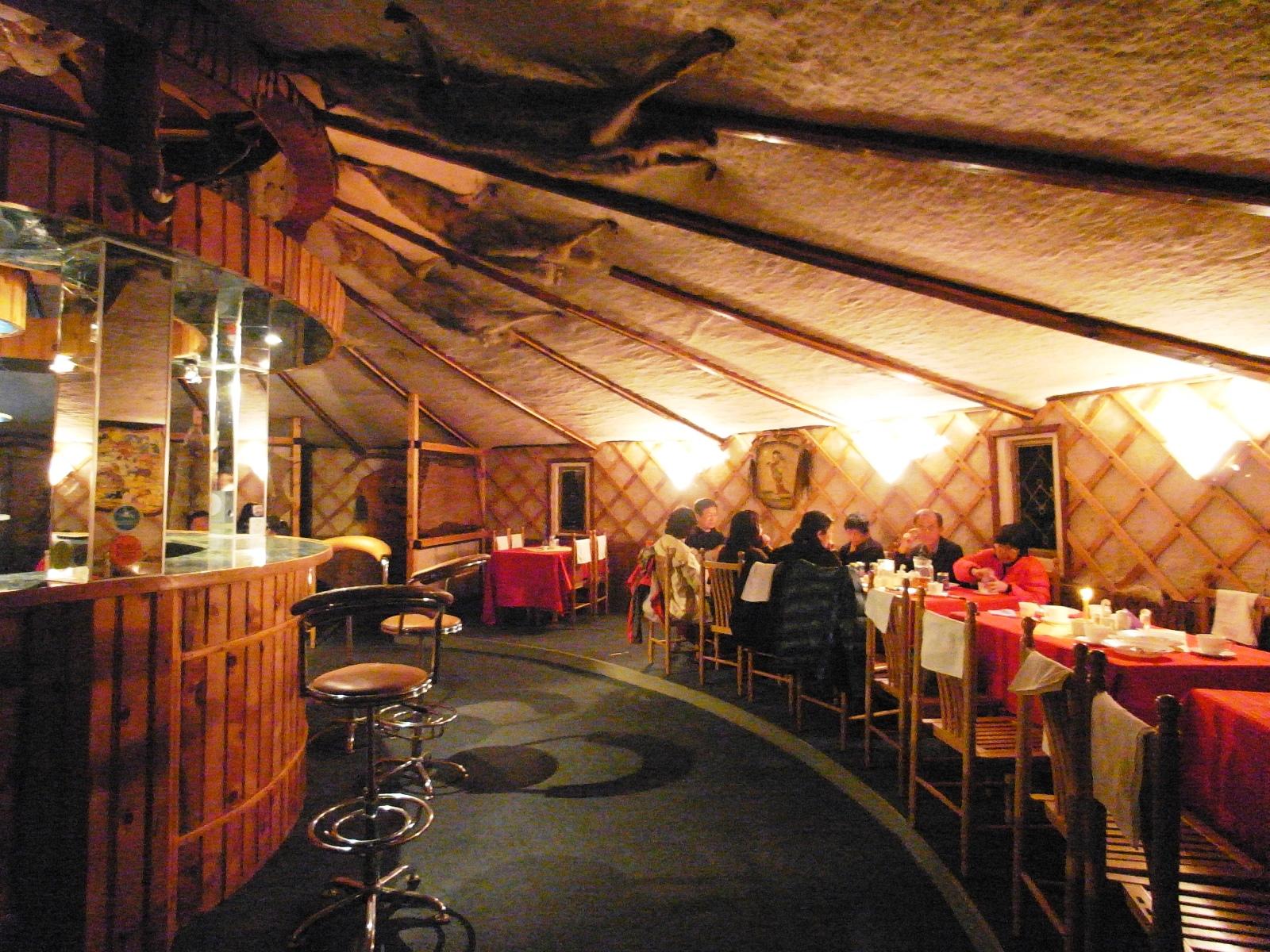 ゲル様式の快適なレストラン