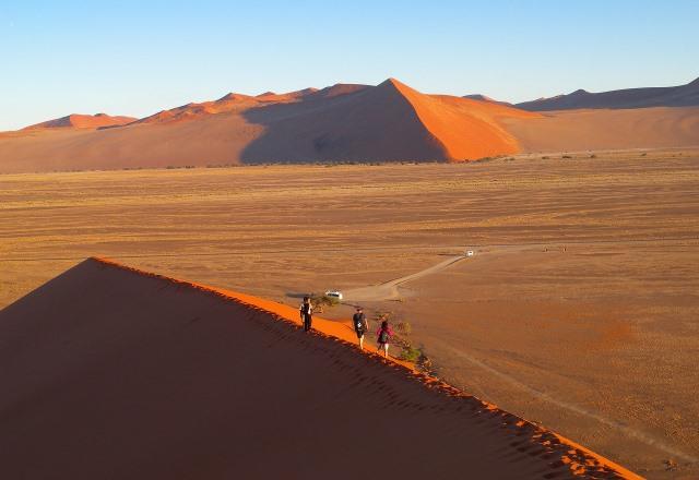 美しいナビブ砂漠を砂丘の上から堪能します