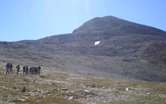 ヨセミテ第2の高峰、Mtデイナに向けて