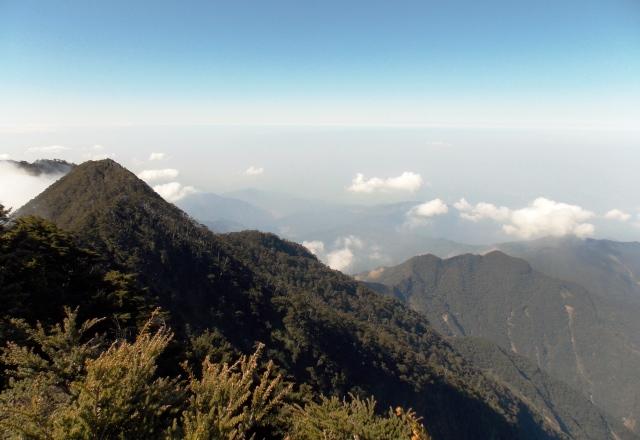 北大武山の山頂からの展望