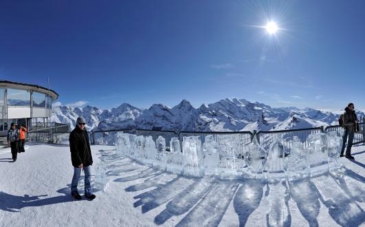 素晴らしい景色が広がるシルトホルン展望台