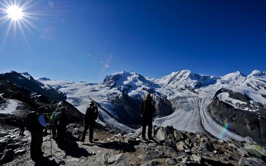 モンテローザとゴルナー氷河