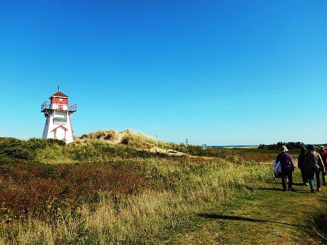 島に点在する可愛らしい灯台