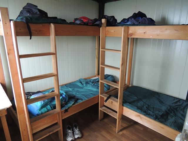 アバチャ山のキャンプハウスの内部