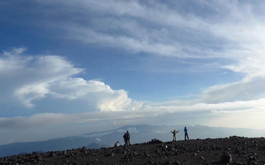 スメルの山頂からの景色