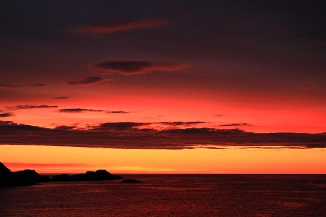 セニヤ島の夕暮れ