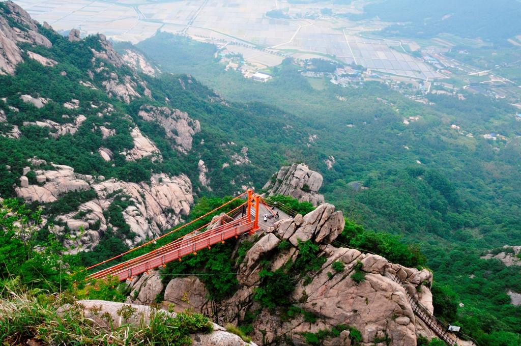 高度感抜群の雲上の吊り橋(グルムダリ)