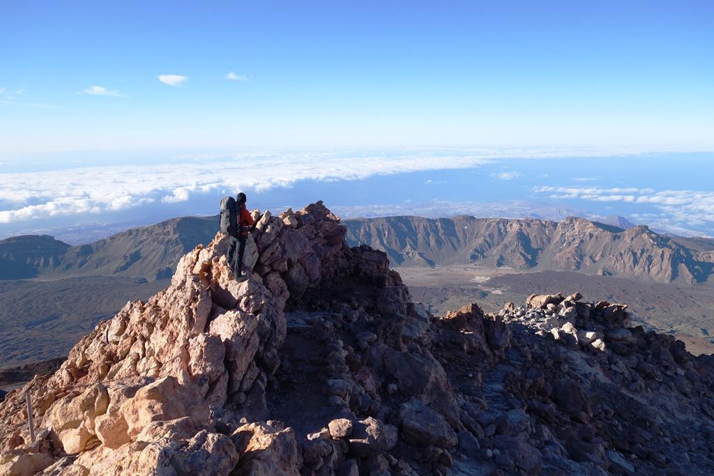テイデ山頂上稜線からの大展望(5日目)