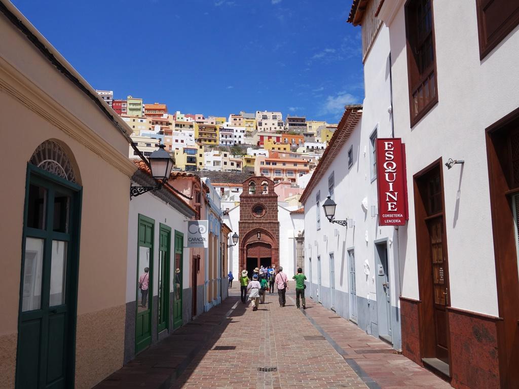 ゴメラ島のサンセバスチャン・デラ・ゴメラの街