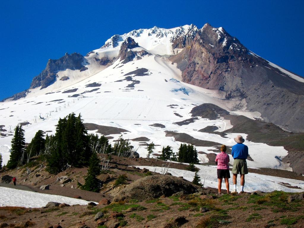 オレゴン州最高峰Mt.フッド(3,428m)