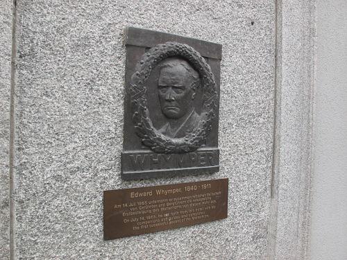 マッターホルン初登頂者ウィンパーのレリーフ