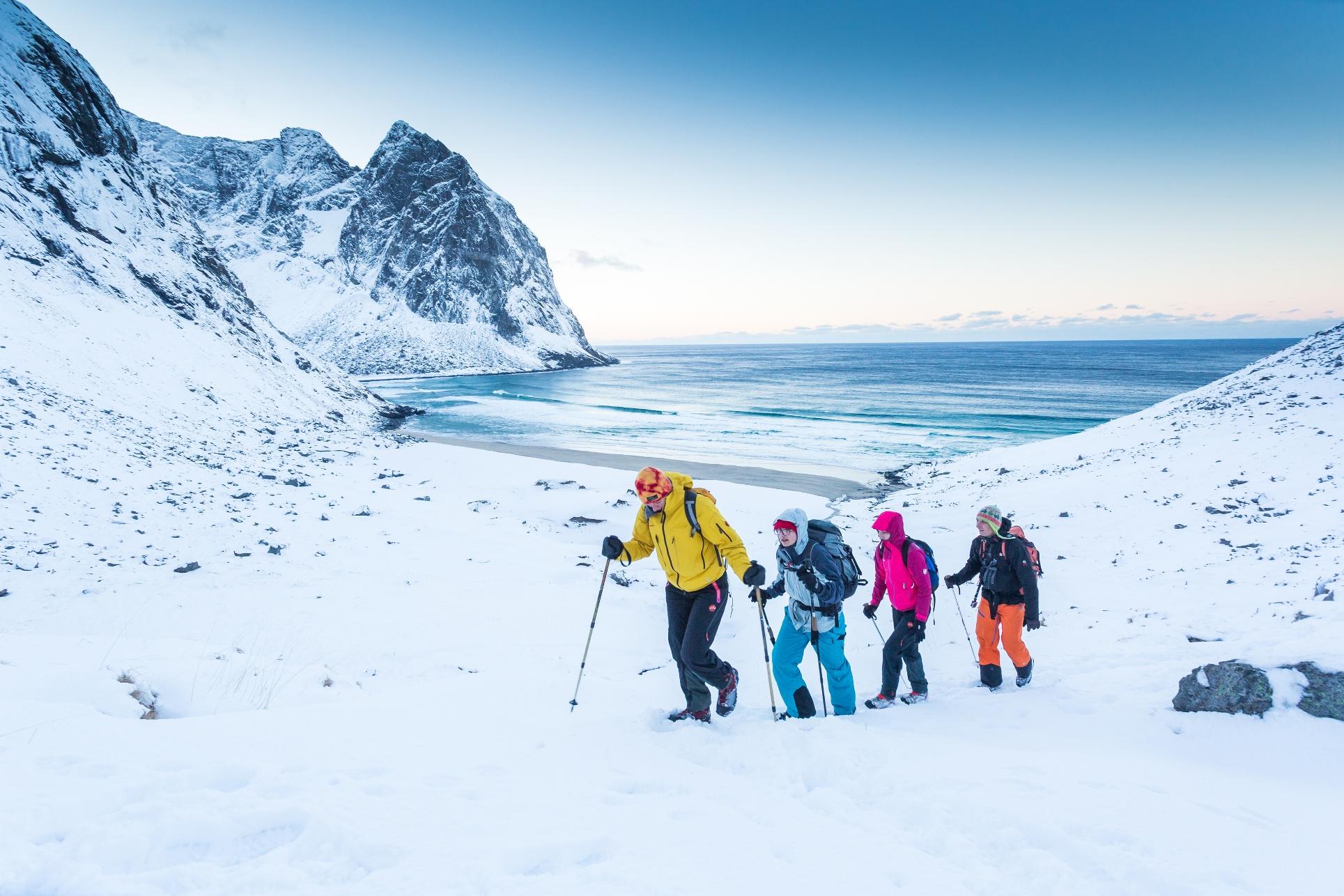 ロフォーテン諸島でホワイト・ハイキング@www.visitnorway.com