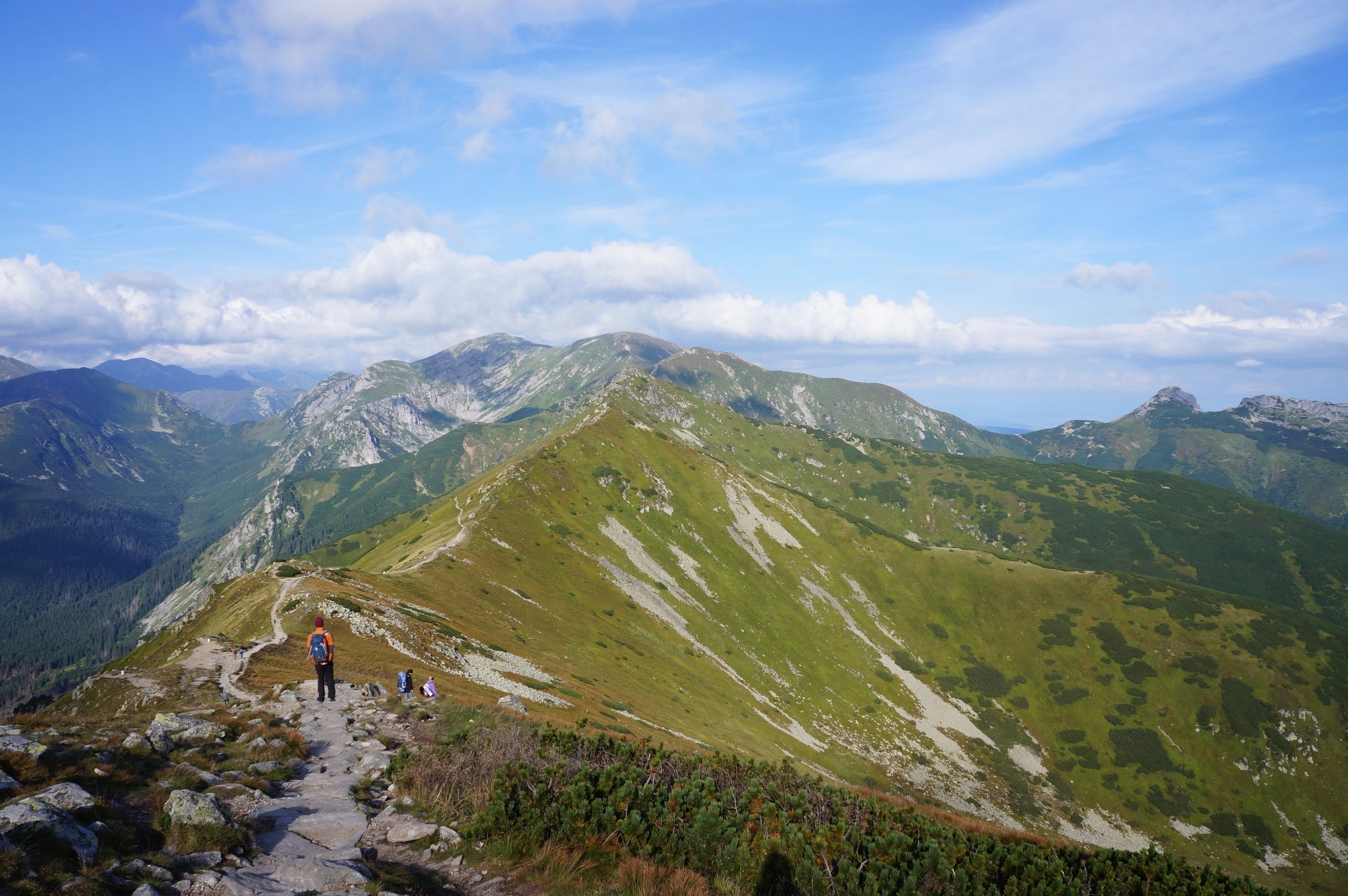 ポーランドとスロバキアの国境になっている気持ちの良い稜線を歩く(3日目)