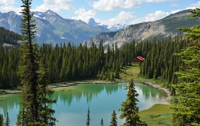 標高2000mに建つ、森と湖に囲まれたミスタヤ・ロッジに4連泊
