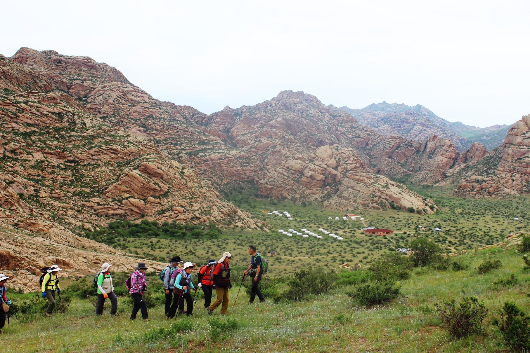 ラシャントキャンプ地周辺ハイキング